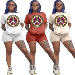 Beige Short Leggings Australia - Women designer tracksuit two piece set sportsuit casual summer women clothes T-shirt short leggings fashion sport suit klw1425