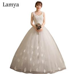$enCountryForm.capitalKeyWord UK - wholesale Customized Princess Sweatheart Wedding Dresses 2019 Cheap Vintage Bridal Gowns Spaghetti Straps Vestido de noiva