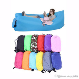 Wholesale 10 colors Lounge Sleep Bag Lazy Inflatable Beanbag Sofa Chair Living Room Bean Bag Cushion Outdoor Self Inflated Beanbag Furniture toys