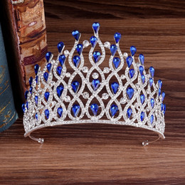 prom hair accessories Australia - Kmvexo Luxury Multilayers Drop Royal King Wedding Crown Bride Tiaras Hair Jewelry Crystal Diadem Prom Party Pageant Accessories MX190817