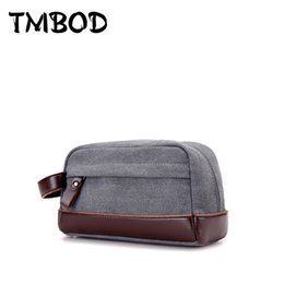 $enCountryForm.capitalKeyWord Australia - New Fashion Design Men Canvas & PU Leather Envelope Bags Casual Day Clutch Bag Zipper Business Small Solid Hand Bags Male Pouch