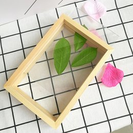 wall scenery posters NZ - Photo Frame Picture Poster Frame Transparent Wooden Home Display Decoration Wall Decoration