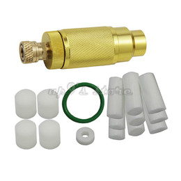 oil hand UK - 4500PSI High Pressure PCP Hand Pump Air Filter Oil-water Separator with Hose Female and Male Connector pcp Air Tank M10*1