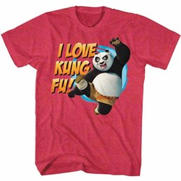 647316df2 Kung Fu Panda Po I Love Fighting Men's T Shirt Dreamworks Cartoon Movie Red  Men Women Unisex Fashion tshirt Free Shipping