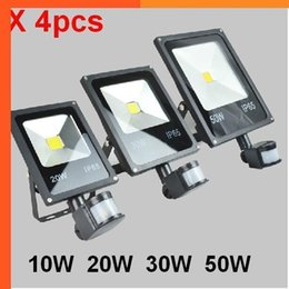 $enCountryForm.capitalKeyWord Australia - (4pcs lot)85-265V 10W 20W 30W 50W 70W 100W PIR LED Floodlight with Motion detective Sensor Outdoor LED Flood light Lamp led spot