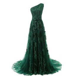 $enCountryForm.capitalKeyWord UK - Formal Custom Made Evening Gown High Quality Green One Shoulder Evening Dress Celebrity Dress Special Occasion Dresses Abendkleid 2019