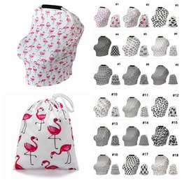 Baby Shawl Wholesale Australia - Baby Floral Feeding Nursing Cover 19Styles striped Newborn Toddler Breastfeeding Privacy Scarf Cover Shawl Stroller Canopy with bag AAA2208