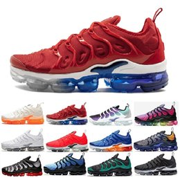 Discount red lace cut out dress - 2019 New Original Tn Plus Fashion Casual Shoes Sale Volt Hyper Violet Men Women Shoes Triple Designer White Black Red Bl