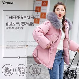 thinnest warmest clothing Canada - Thick Warm Thin Hooded Cotton Long Parka Plus Size Women Winter Coat Jacket 2018 Clothing For Mujer Feminine De Inverno Casaco