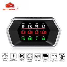 heads up gps UK - P17 Head Up Display OBD Car Electronics HUD OBD2 GPS Dual Mode Display GPS Speedometer Overspeed alarm Universal for all cars