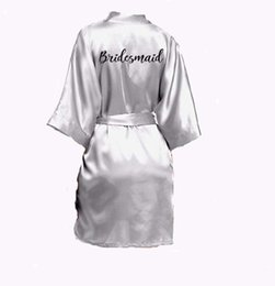 $enCountryForm.capitalKeyWord UK - Grey Sexy Silver Robe Kimono Bridal Pajamas Wedding Robe Bridesmaid Matron Maid Of Honor Sister Mother Of The Bride Robes