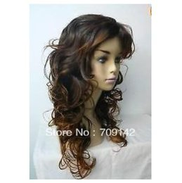 $enCountryForm.capitalKeyWord NZ - Freedom deliver made no lace Kanekalon wigs Cos Long Stylish long Light brown Women's Curly Cosplay wig