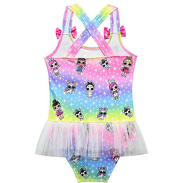26aec0ce0e6b7 Surprise Girl Baby One-piece Swimsuit Children Summer Gauze Lace Swimwear  Kids Beach Bathing Clothes Swimming Suits holiday gifts new C3222
