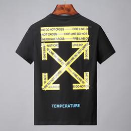 5dd2a28207 19ss Hot T-shirt Fashion off Men alta calidad 100% algodón estilo del  verano de manga corta G T camisetas marcas blancas hombres ropa impresión  de la letra