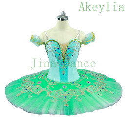 professional white dancing dresses UK - Adult Mint Green Professional Ballet Tutu Women Skirt Pale Green Nutcracker Classical Ballet Tutus Dress Dance Ballerina Costumes For Female
