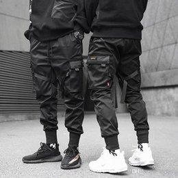 $enCountryForm.capitalKeyWord Canada - Men Ribbons Color Block Black Pocket Cargo Pants 2019 fashion Harem Joggers Sweatpant Hip Hop Trousers
