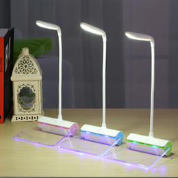 $enCountryForm.capitalKeyWord Australia - Novelty table light smart touch switch reading desk lamp with message board folding led night light eye protection study office