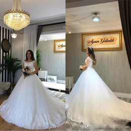 Discount wedding dresses for african brides Luxury Applique Lace Ball Gown African Wedding Dresses 2019 New For Bride Plus Size Country Robe de Mariage custom MAde