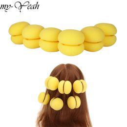 Magic Sponge Hair Curlers Australia - roller 6pcs Magic Sponge Curler Rollers Hair Care Foam Balls Curlers Bun Hairdressing Roller DIY Styling Tools