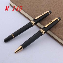 classic plastics Australia - OFFICE Writing Supplies plastic luxury classic 145 serial number black golden ballpoint Pen