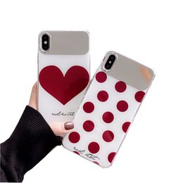 Girls cell phones covers online shopping - For Iphone xs max xr x plus mirror case back for Huawei P30 pro cell phone cover slim cartoon cute design for girls new fashion