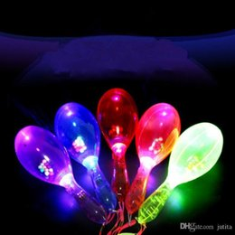 props concert supplies UK - Colorful LED Light Up Glowing Maracas Kids Flashing Toys Bar Concert KTV Cheering Props Birthday Glow Party Supplies