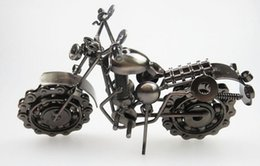Discount iron metal model motorcycles - motorcycle model creative gifts Wrought iron ornaments desktop decoration model motorcycle ornaments metal crafts antiqu