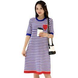 $enCountryForm.capitalKeyWord NZ - 2019 Summer Postpartum Women Lactation Clothes Fashion Short Sleeve Oneck Stripe Cotton Nursing Dress Casual Breastfeeding Dress