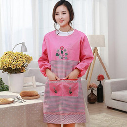 $enCountryForm.capitalKeyWord Australia - 1 Pcs Flower Plaids Apron Cooking Baking Coffee Shop Cleaning Aprons Woman Adult Bibs Home Kitchen Accessories
