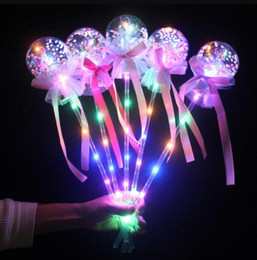 Wholesale witches costumes for halloween online – ideas Party Light up Magic Ball Wand Glow Stick Witch Wizard LED Magic Wands Rave Toy For Birthdays Princess Costume Halloween Decor angle favors