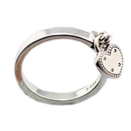 China New Authentic 925 Sterling Silver Pan Ring Heart-shaped Padlock Love Heart Lock Rings For Women Gift Fine Vanlentine's Day Jewelry supplier rings padlock suppliers