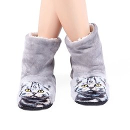 4d72ccde5367 Mntrerm Brand Women Cute 3D Cat Print Slippers Beach Thick warm Winter  Slippers Zapatos Mujer Home Indoor Plush Flat With Shoes