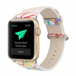 Smart Buckle Watch Australia - For Apple Watch 38mm 42mm Band Leather Replacement Women Smart Watch belt Watchbands Retro Leather Soft Watch Band Strap Buckle Fashion