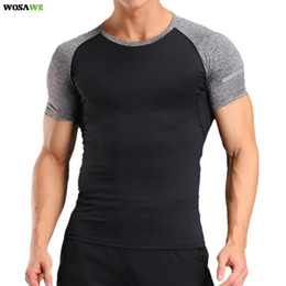 short sleeve breathable fishing shirts 2020 - Running T Shirt for Men Quick Drying Breathable Sports Walking Fitness Gym Exercise Fishing Short Sleeve Loose badminton