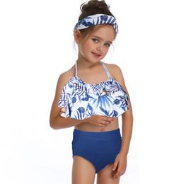 f45f6951b4da Compras online frete grátis criança criança meninas do bebê de duas peças  biquíni swimwear maiô maiô verão beachwear