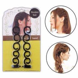 Hair Braiding Accessories Australia - Lady French Braiding Tool Weave Braider Hair Twist Styling Tools Diy Bun Maker Hair Band Accessories Makeup Curler