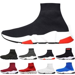 golf speed 2019 - 2019 New Luxury Designer Shoes for women men Speed Trainer Black Trainer Red Triple Black casual shoes outdoor womens Sn