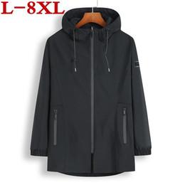 Wholesale super plus size coats resale online - high quality Spring And Autumn Plus size XL XL Code Men Coat kg Can Wear Casual Loose Have A Hat Super Large Size jacket