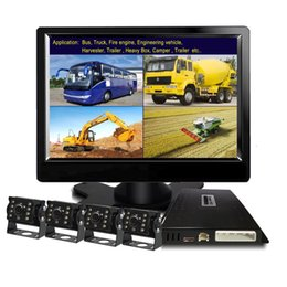 engines for bus Australia - Weivision 1080P FHD DVR Monitor, 7 Inch Split Screen, 4 Backup Side Front Camera Kit for Fire Engine Bus Truck Trailer RV Tracto car dvr