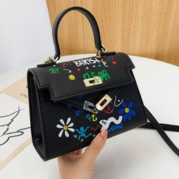 lady mini handbag Australia - 2020 Mini Kely Handbags Lady Small Crossbody Bag Women Graffiti Shoulder Bags Messenger Bag