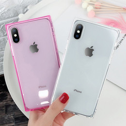 $enCountryForm.capitalKeyWord NZ - New Europe Square Phone Case For iPhone XS max xr X 6 8 7 Plus 6s Soft shell Anti-fall Transparent cover For Apple iPhone 6s Plus Back Cover