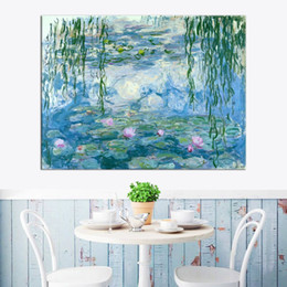 $enCountryForm.capitalKeyWord Australia - World Famous High Quality Handpainted Monet Water Lily Replica Impressionist Art Oil Painting On Canvas Wall Art Home Decor l32