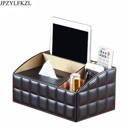 $enCountryForm.capitalKeyWord Australia - Pu Leather Removable Luxury Office Tissue Napkin Holder Desktop Storage Box Cosmetics Jewelry Remote Control Organizer J190713