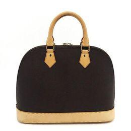 BB Bags online shopping - ALMA BB Shell bag High quality leather shoulder bags Classic Damier Women Famous Brand designer Handbags check bag M53151
