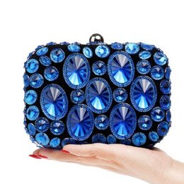 purple crystal evening clutch bag Australia - Women Evening Bag Day Clutches Crystal Diamonds Banquet Wedding Party Bag Beaded Evening Clutch Drop Shipping