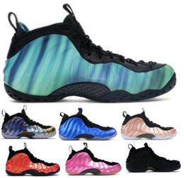 Vente en gros 2019 Mousses Penny Hardaway Chaussures de basketball Baskets Hommes Légion Vert Un Albinos Aubergine Floral Alternate Galaxy Bang Habanero Chaussures de Sport