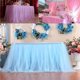 Discount wholesale round table covers - Table Skirt Cover Birthday Wedding Festive Party Decor Table Cloth Wedding,hotel,party,banquet,home Skirt