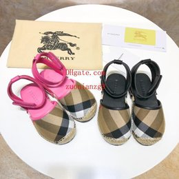 Quality Beach Wraps Australia - 2019 Summer high quality Baby shoes Sandals Kids Slippers New contrast striped sandals Outdoor Beach Sandals casual fashion kid shoes ABC-3