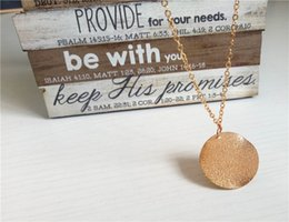 Rose Pendant Jewellery Australia - cecmic gold plate round coin pendant necklace for woman and mens jewelry necklace jewellery set free ship china directly