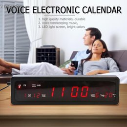 $enCountryForm.capitalKeyWord NZ - 1pcs Electronic Voice Music Perpetual Calendar USB Digital Display Temperature Clock EU Plug Digital Analog-Digital Clock